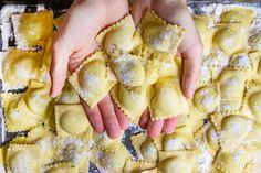 Family Recipes: The Story Of My Grandparents' Sicilian Ravioli Giada Recipes, Pasta Recipes, Dinner Recipes, Cooking Recipes, Italian Dinners, Italian Recipes, Family Recipes, Family Meals, Ragu Recipe