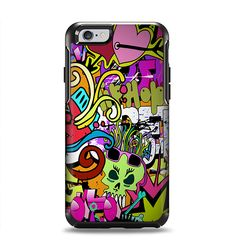 The Vibrant Colored Vector Graffiti Apple iPhone 6 Otterbox Symmetry Case Skin Set