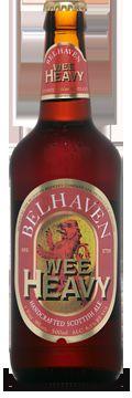 Cerveja Belhaven Wee Heavy, estilo Strong Scotch Ale, produzida por Belhaven Brewery, Escócia. 6.5% ABV de álcool.