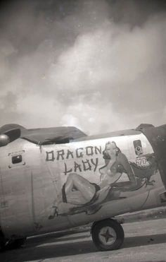 """Consolidated B-24J Liberator """" Dragon Lady"""" -175-CO #670 44-40670 of the 11th Bomb Group 42nd Bomb Squadron, Okinawa 1945"""
