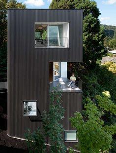 "Ben Waechter's Tower House makes the most of an ""unbuildable"" Portland hillside."
