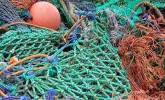 rede de pesca reciclagem descarte sustentabilidade
