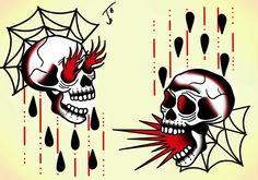 #skull #skulltattoo #skullflash #flash_sheet #traditional #tattoo #tradtattoo #traditionaltattoo #oldschooltattoo #inked #tradflash #traditional_flash #traditionaltattooflash #olomouctattoo #lovetat #lovetattoo #traditional_tattoo #sketchbookpro #wacomtattoo #digitalpainting
