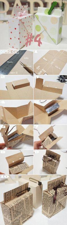 Gấp giấy thành đủ kiểu hộp đựng đồ hữu ích 4