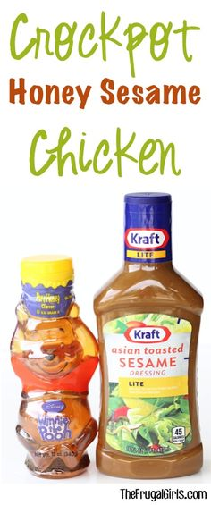 Ingredients} – The Frugal Girls Your family will be coming back for seconds with this yummy Crockpot Honey Sesame Chicken Recipe! Just a few simple ingredients for a delicious dinner! Slow Cooked Meals, Crock Pot Slow Cooker, Crock Pot Cooking, Slow Cooker Recipes, Crockpot Recipes, Freezer Meals, Honey Recipes, Quick Meals, Easy Recipes