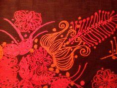 60s vintage fabric Boras Cotton. Hot pink. Retro by Inspiria, $52.00