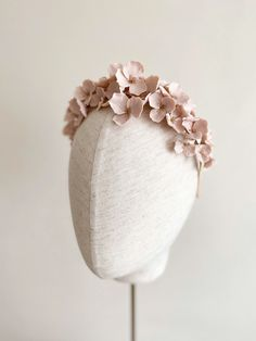 Handcrafted blush florals for a pretty statement piece. Also in Ivory Bridal Hair Updo, Bridal Headpieces, Hair Jewelry, Bridal Jewelry, Jewellery, Polymer Clay Earrings, Polymer Clay Flowers, Flower Tiara, Diy Braids