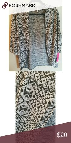 Xhilaration Geometric Black/White Cardigan Brand new with tags cardigan with geometric print - Xhilaration. Xhilaration Sweaters Cardigans