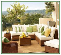 Gorgeous Rattan Balcony Patio Furniture Cushions With Pillows