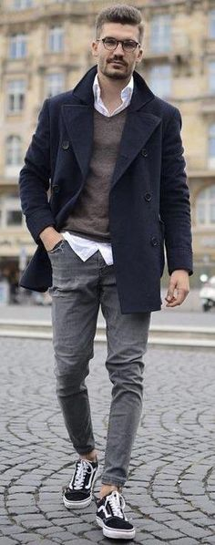 0e82591a89f  justusf hansen - with a fall outfit idea with a navy pea coat gray v-