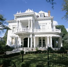 USA, Louisiana, New Orleans, Greek Revival Mansion -