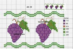 Cross Stitch Fruit, Cross Stitch Patterns, Baby Gifts, Kids Rugs, Crochet, Aprons, Mantel, 1, Gift Ideas