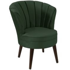 angelo:HOME Channel Seam Tub Chair in Mystere Jade