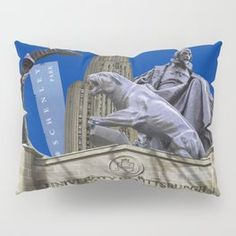 Pittsburgh Campus Collage Photography Print Pillow Sham