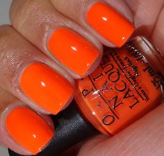 Opi neon revolution minis beauty nails, orange nail polish и Orange Toe Nails, Bright Pink Nails, Orange Nail Polish, Neon Nail Polish, Gel Polish Colors, Neon Nails, Polish Nails, Nails Opi, Nail Manicure
