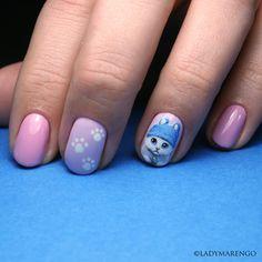 #geeknails #ladymarengo #шеллак #гельлак #нейларт #ногти #маникюр #дизайнногтей #nailart #naildesign #nails #кот #cat