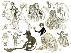 """Some Ludus Chaos sketches of Ardan and some of the """"friends"""" he's made. And I use that term loosely (Looking at you, Lue, you fabulous... whatever you are) lol! Other characters pictured here inclu..."""