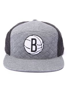 4ba228bcbbc Mitchell  amp  Ness - Brooklyn Nets Quilted Horizon 6 Panel Snapback Hat   snapback