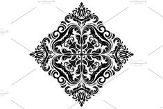 Oriental vector pattern with damask, arabesque and floral elements. Damask Patterns, Retro Graphic Design, Victorian Design, Stencil Painting, Arabesque, Vector Pattern, Abstract Backgrounds, Stencils, Floral