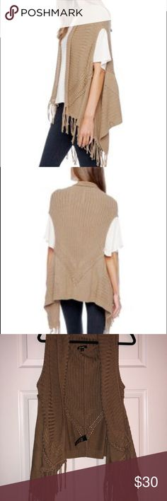 Ella Moss Lena Cable Rib Fringe Sweater Caramel brown Ella Moss Sweaters Cardigans