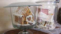 Chef Tess Bakeresse: The Kitchen Craftin' Gingerbread House Under Glass Tutorial