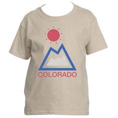 Colorado Mountain & Sun - Youth/Kid's T-Shirt