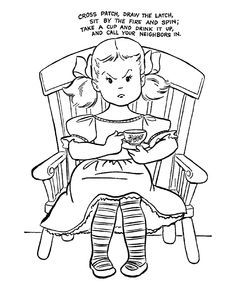 find this pin and more on nursery rimes nursery rhymes coloring pages - Nursery Coloring Pages