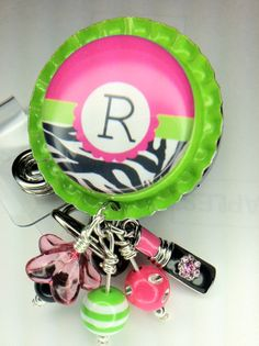 Retractable ID badge Reel  Bottlecap badge holder by mccloy750, $13.50
