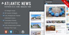 30 bootstrap magazine and blog wordpress themes