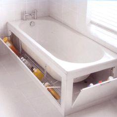 Bathtub with storage