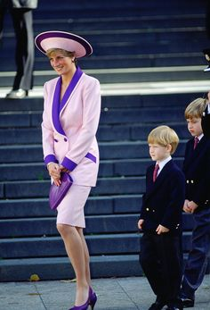 Diana Frances  and Prince William& Harry