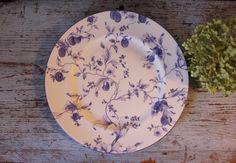 Vintage Wedgwood Blue Plum Dinner Plate by CottageBlu on Etsy