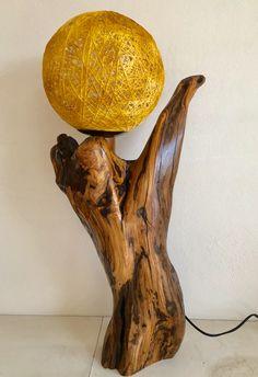 Φωτιστικο απο ξυλο ελιας. Table Lamp, Lighting, Wood, Home Decor, Rustic Lamps, Lamp Table, Decoration Home, Light Fixtures, Woodwind Instrument