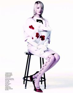 """Eccentric Elegance"" Daria Strokous by Willy Vanderperre for Vogue China March 2013"