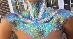 Chest glitter