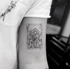 Card tattoo by Sanghyuk Ko