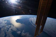 Australian Sunset from Space - NASA image
