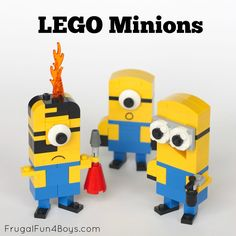 How to Build LEGO Minions Who doesn't love minions? We just watched Despicable Me (again) last weekend, and decided to build some minions! There's something irresistible about these silly guys! After you build them, it's time to find things for them to do. Ooooooooh… Ha ha ha ha ha ha ha!!! You might even …