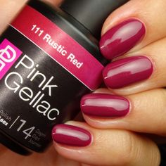 Pink Gellac 111 Rustic Red Gel Nail Polish Outfit