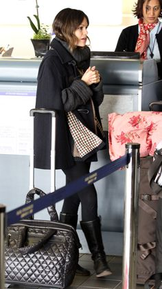 Rachel Bilson takes the layered approach at LAX. via @stylelist | http://aol.it/VAmrgO