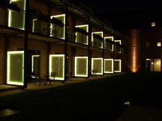 Exterior LED lights for hotels and balconies