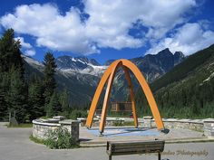 Hwy 1 thru Rockies via Rogers Pass, British Columbia- at summit 1330M or 4360 ft high, discovered in 1881
