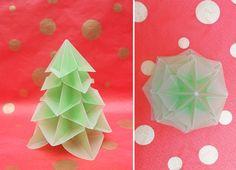 Bialbero di Natale - Double Christmas tree, designed by Francesco Guarnieri | più origami: Natale
