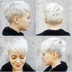 @sarahb.h ❤ #pixiecut #hair #hairstyle #haircut #shorthairlove #undercut #shorthair