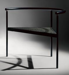 September armchair, 1973 by Shigeru Uchida (melamine baked steel pipe and stainless steel wire)
