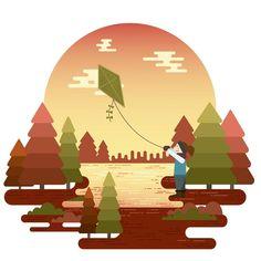 #autumn #fall #seasons #kite #lake #joy #designseries #graphicdesign #graphic #graphicart #flatdesign #illustrationart #illustrator #illustration #adobeillustrator #vector #vectorart #designer #art #artist #digitalart