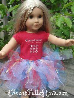 DIY Tutorial: DIY Dolls / DIY Patriotic American Girl Tutu - Bead&Cord
