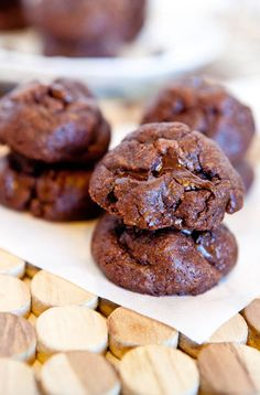 Flourless chocolate peanut butter chocolate chip cookies