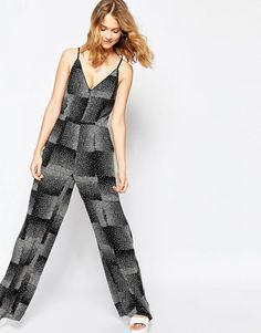 Image 4 of Harlyn Speckled Print Wide Leg Jumpsuit