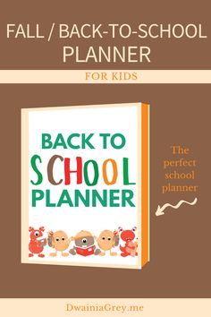 Keep your family organized by planning your family's fall activities. This colorful planner for kids and the whole family to use to plan your autumn and back-to-school. Comes with 2 printable PDF versions and 12+ cover options. BACK TO SCHOOL VERSION - includes special school sections:- Class Schedule- Student Goals and Monthly Goals- School Information Page- Lesson Notes- Assignment Lists- Exam Schedule- Back-to-School Shopping List (2 options)- After School Activity Planner Kids Planner, School Planner, Exam Schedule, School Information, Student Goals, Family Organizer, Back To School Shopping, Autumn Activities, Marketing And Advertising